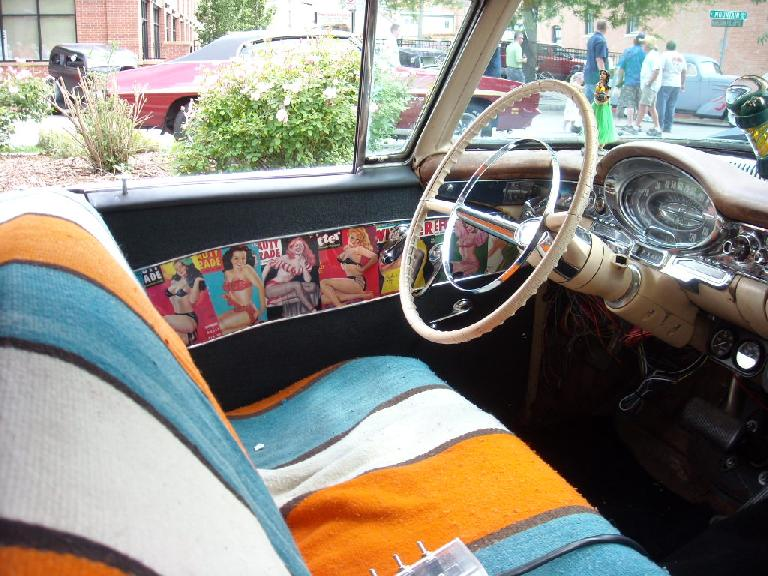 Pin-ups as the interior side panels.