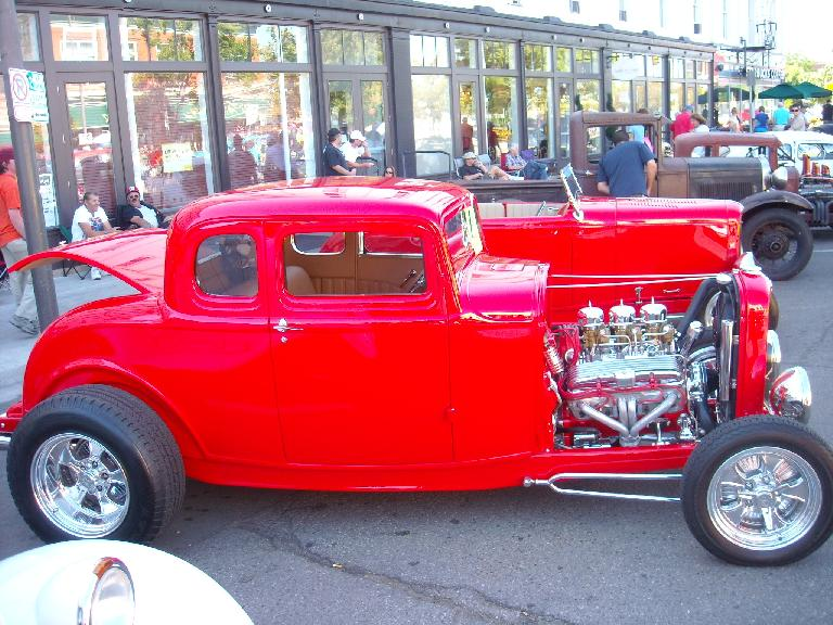 A 20s or 30s custom Ford Deuce Coupe.