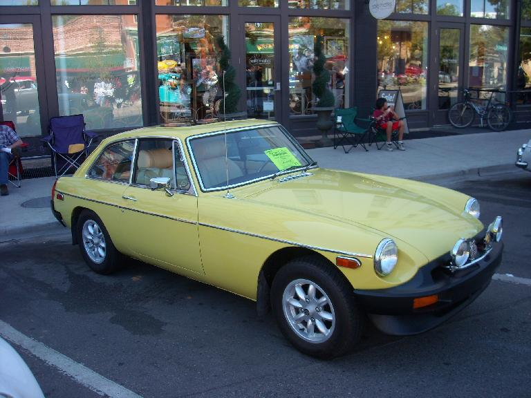 An MGB/GT from the mid- or late-70s.