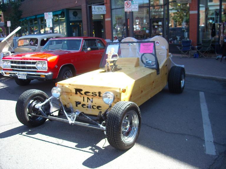 Coffin car.