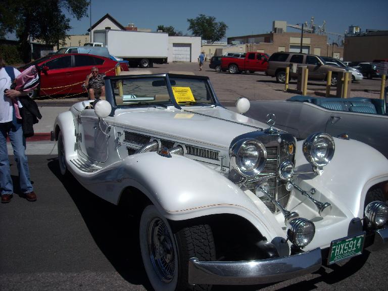 A Mercedes roadster.