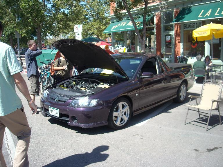 A 2005 Holden Ute.  I'm not sure how the owner managed to import it into the States from Australia and get Colorado license plates for it.