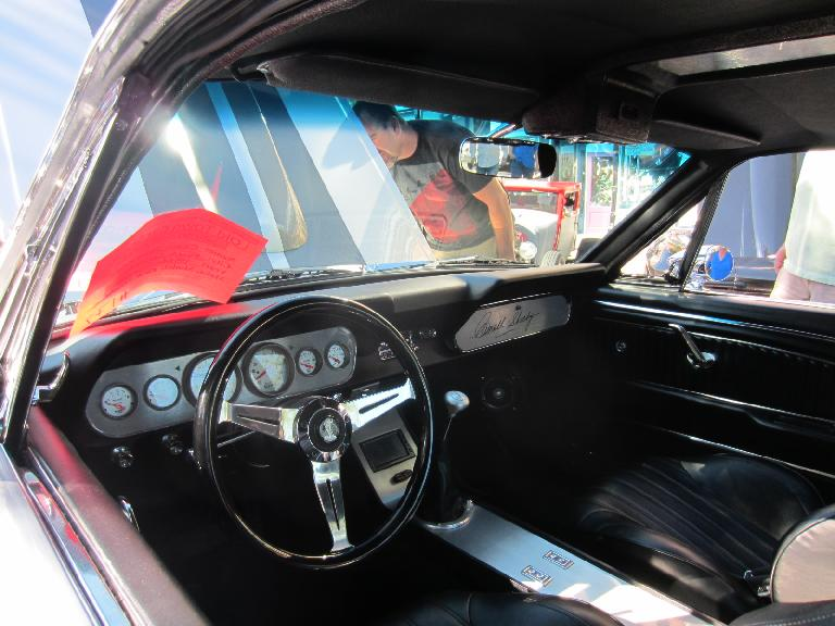 Interior of the Shelby GT500.