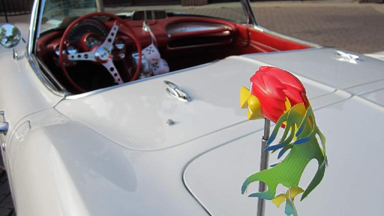 Detail of the antenna accessory on the Corvette.