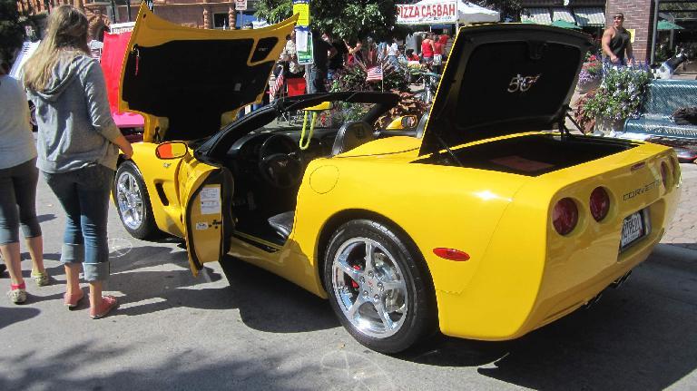 Yellow C5 Corvette convertible.
