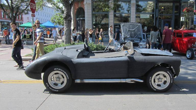 This roadster had a hacked-up MGA body with a Chevy motor. It has no doors, just like the recently unveiled ATS Leggera. As this one-of-a-kind car has been at this show for years, it's as if ATS copied it!