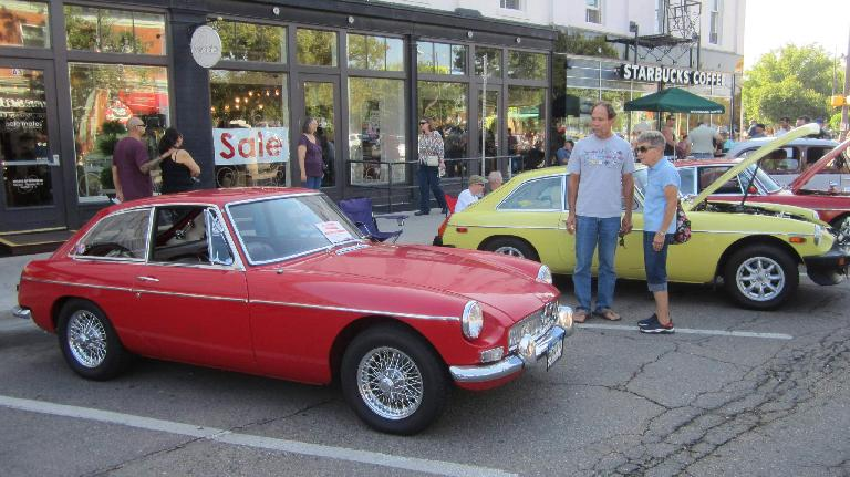 There were four MGB/GTs at the show, but no MGB roadsters.