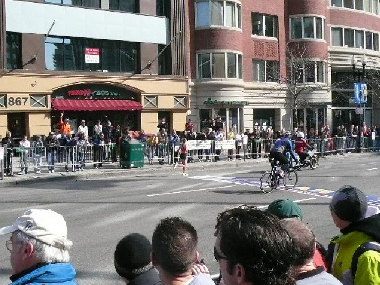 Magdalena on Boylston St., still in the lead.