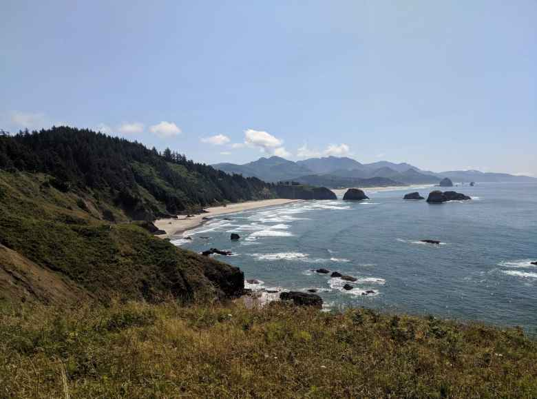 The coastline of Ecola State Park, Oregon.