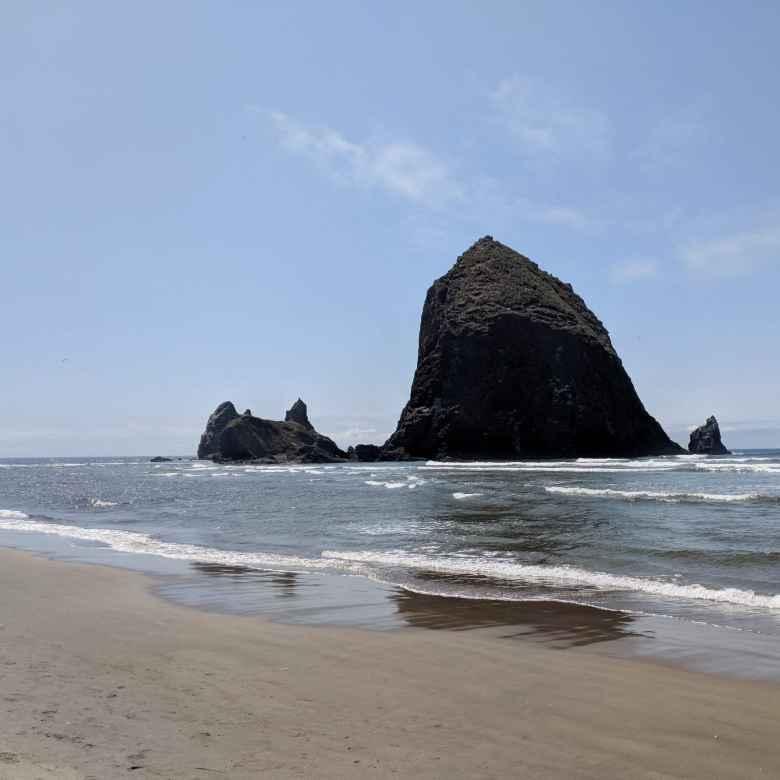 Haystack Rock in Cannon Beach, Oregon.