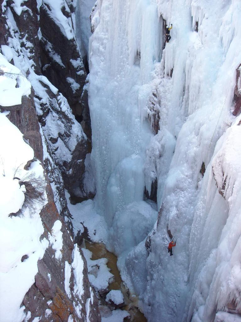 The Uncompahgre River in the Uncompahgre Gorge. (February 1, 2009)