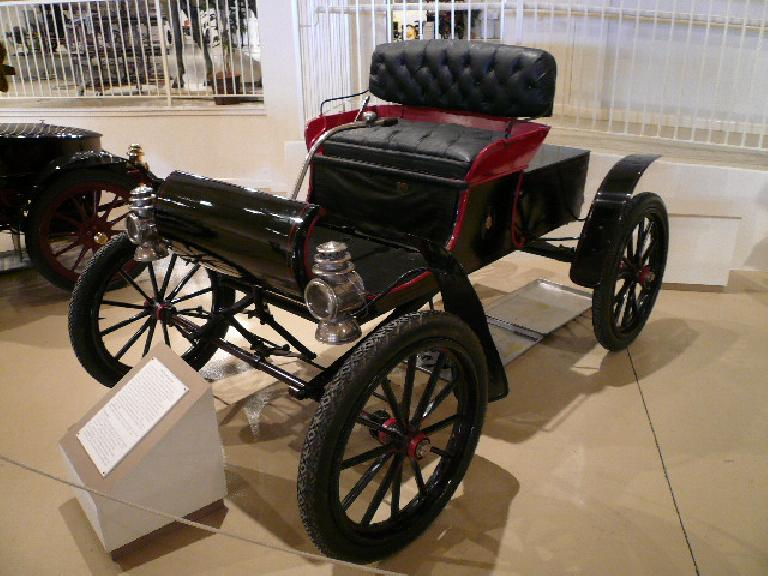 The 1902 Curved Dash Olds represents America's oldest automobile manufacturer (Oldsmobile), which made cars before 1900.