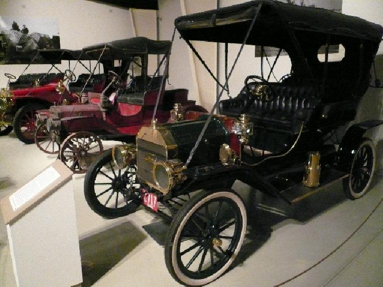 Contrary to popular belief, Model Ts were originally available in different colors.  Only later on (to cut costs and drying time) was black the only option.