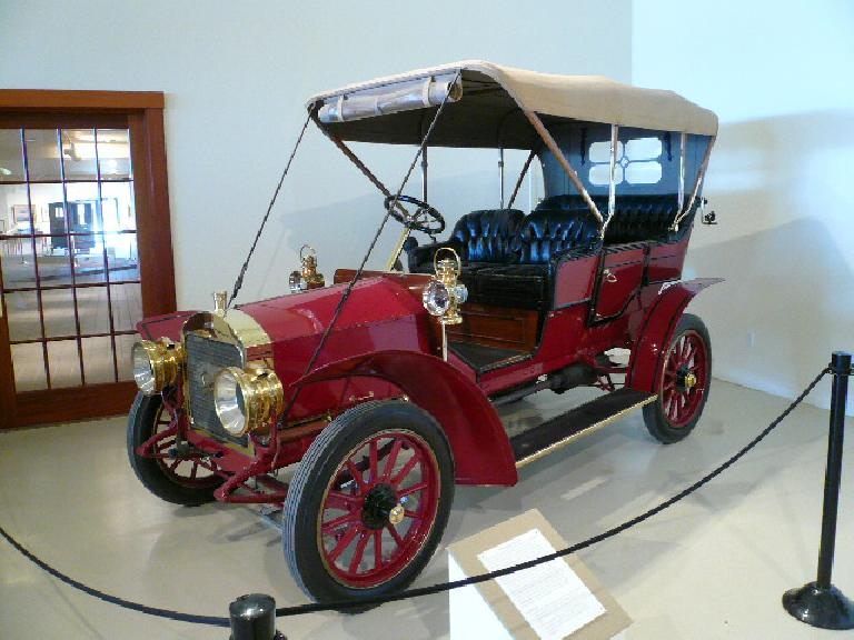 A 1906 Autocar Type XII (formerly the Pittsburgh Motor Vehicle Co.)  Autocar produced the U.S.'s first multi-cylinder, shaft driven car after performing poorly in the NYC-Buffalo Reliability Run using a chain drive.