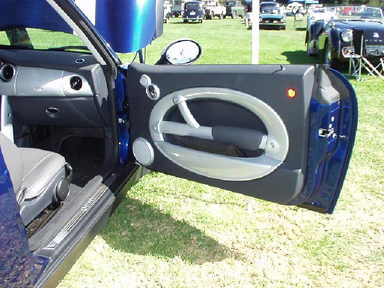 The door panel of the Mini.  Very stylish!