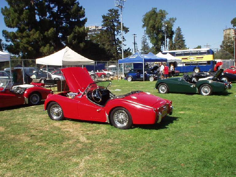 A Triumph TR3.
