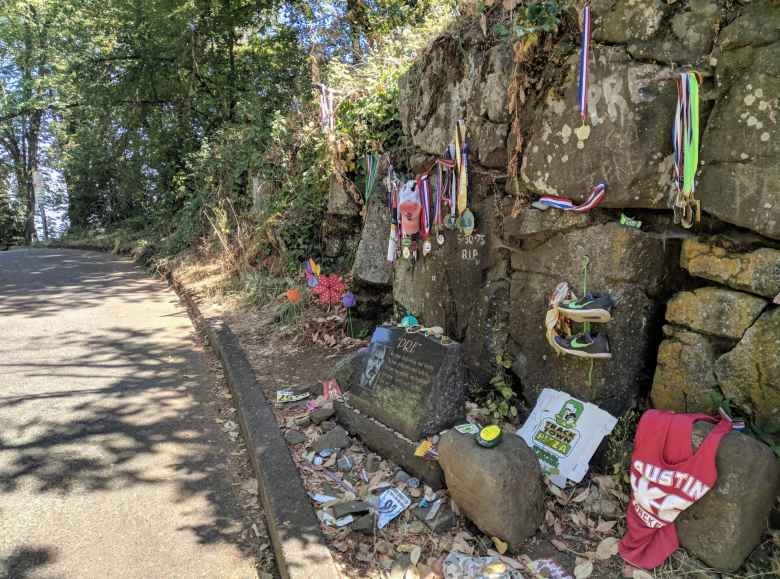 Pre's Rock on Skyline Blvd, where Steve Prefontaine was killed when crashing his MG in Eugene, Oregon.