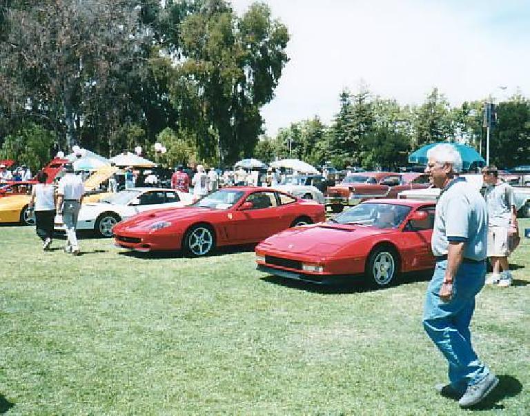 Red Ferraris.