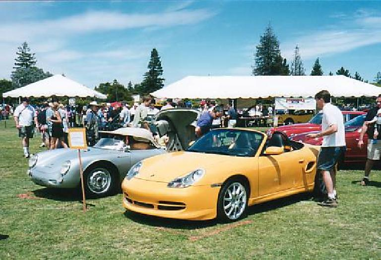 Old is New Again: 2001 Porsche Boxster with a 50s Porsche 550 Spyder.