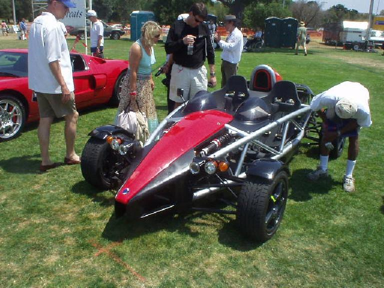 The Wrightspeed X1 was another electric vehicle.  It looked just like an Ariel Atom, because the X1 (only a prototype) used the Atom's body and chassis.