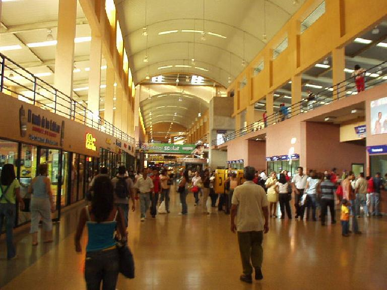 The Albrook bus terminal was huge and modern and had its own mall.