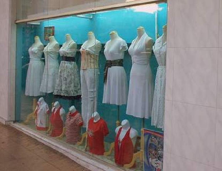 With displays like these all over the city and cheap clothing prices, Panama City is a good place for window shopping.