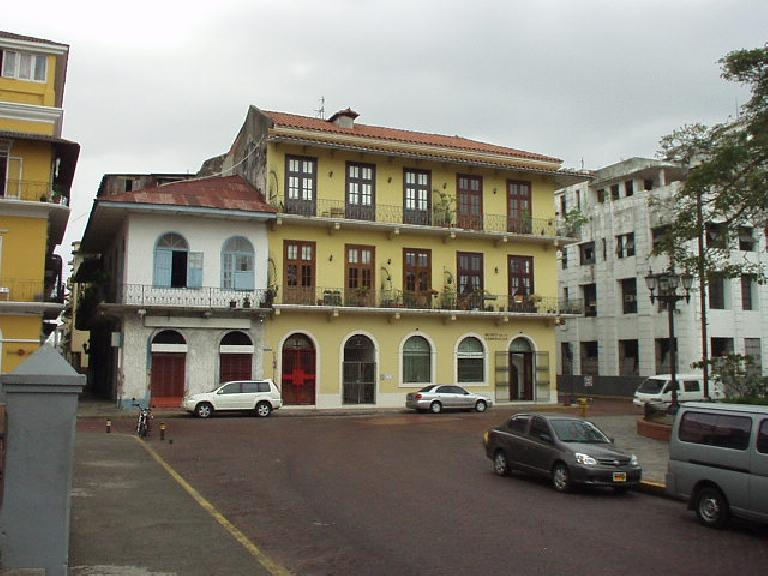 The area of San Felipe (a.k.a. Casco Viejo) has many restored historic buildings such as these. (March 11, 2007)
