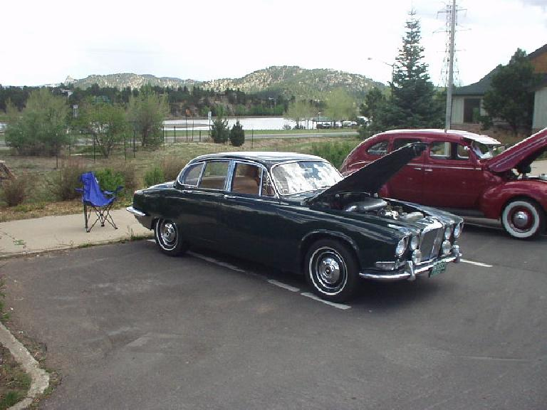 There was some British iron too.  This is a British racing green Jaguar sedan.