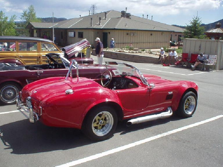 "A replica of an Shelby Cobra.  It was nice but I wish it had more period-authentic wheels and a manual -- instead of automatic -- transmission like the ""real"" Shelby Cobras."
