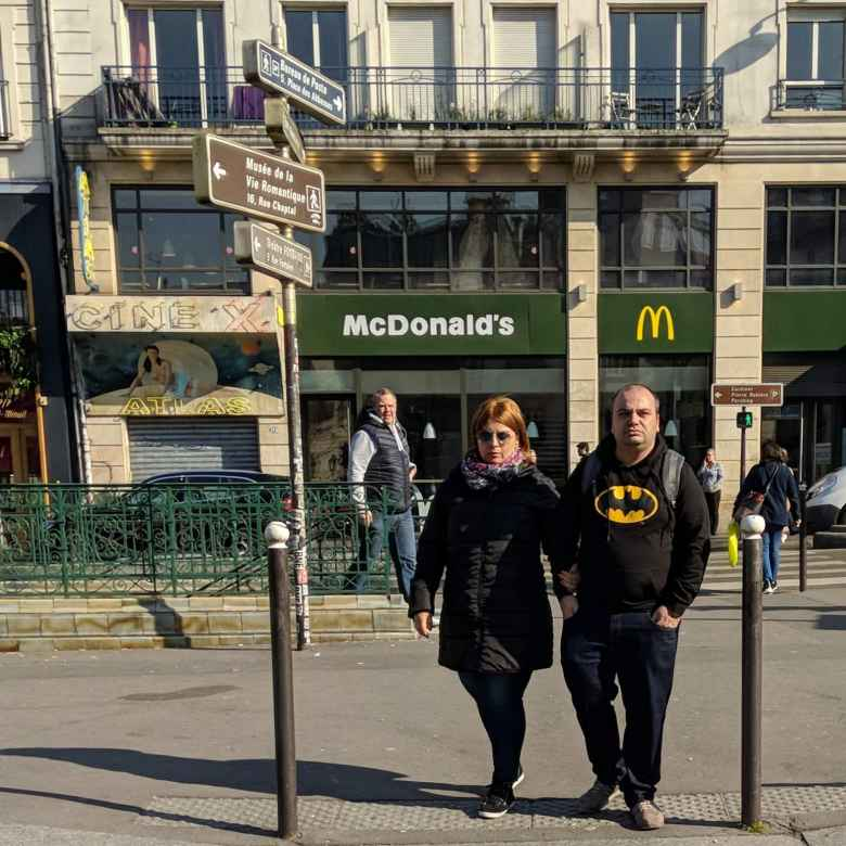 In Paris' red light district, there was McDonald's and... Batman.
