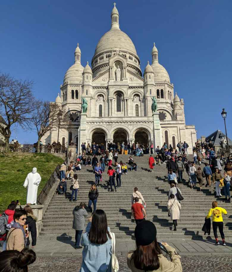 The Sacre Coeur church in Montmartre.