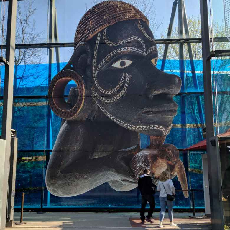 Entrance of the Musée du quai Branly.