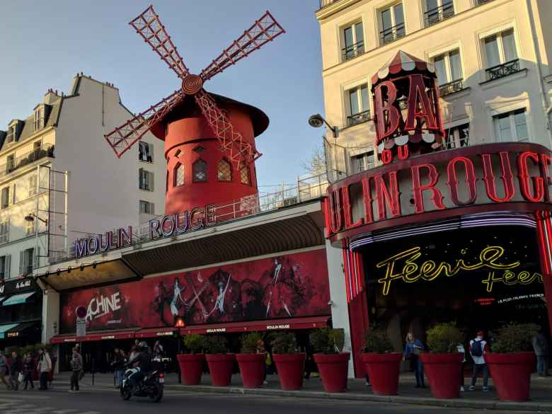 The Moulin Rouge.