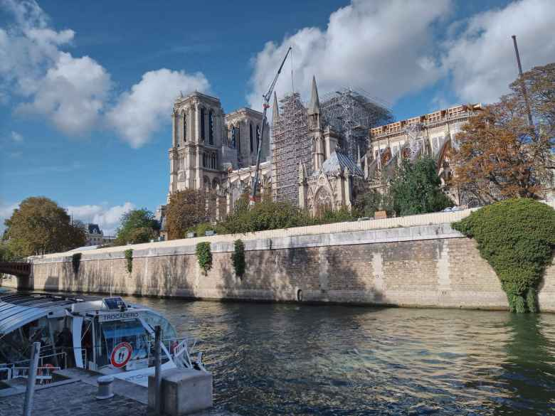 The Notre Dame is under repair for the next few years due to the fire that engulfed its spire in April 2019.