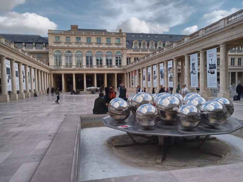 Large balls at the Palais-Royal.