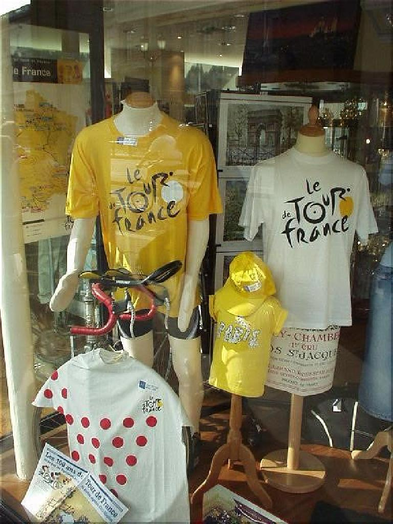 Down from the Louvre was Tour de France memorabilia, which I was heartened to see considering that I was about to do Paris-Brest-Paris just a few days later! (August 17, 2003)