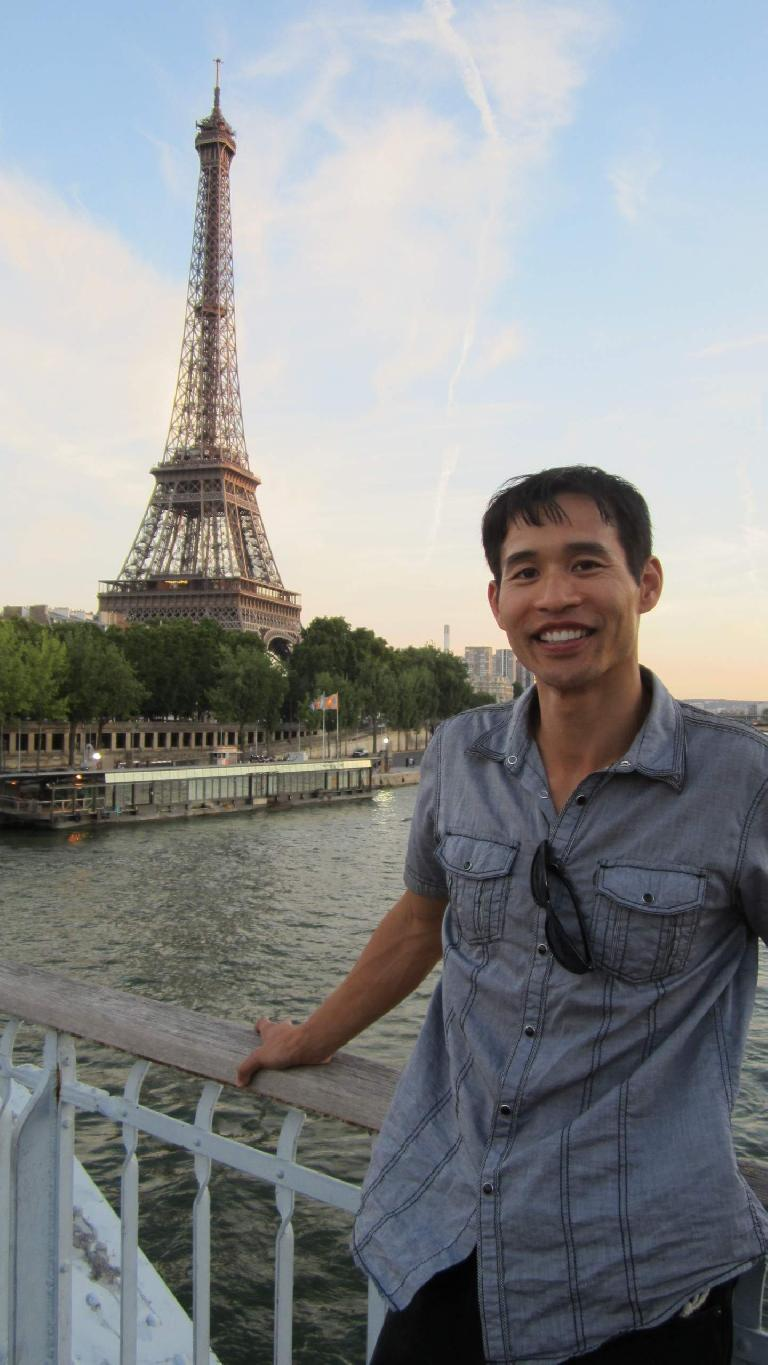 Felix Wong and the Eiffel Tower. (August 5, 2013)