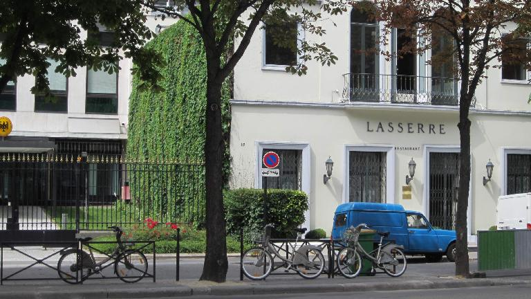 City bikes in front of Lasserre. (August 6, 2013)
