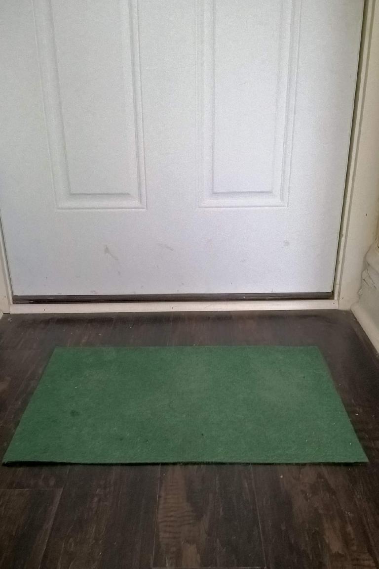 green $1 doormat