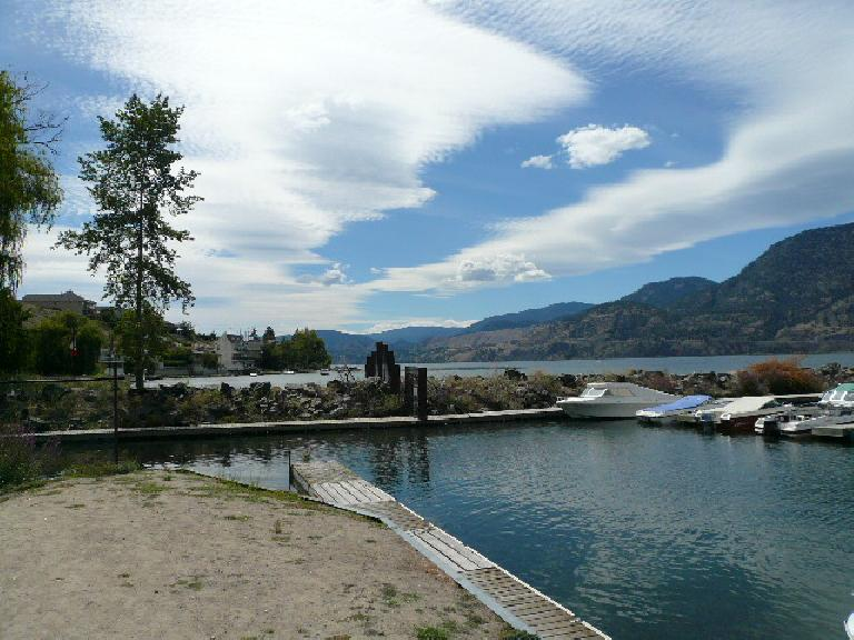 This is Skaha Lake, which the run (and the bike) of Ironman Canada goes by.