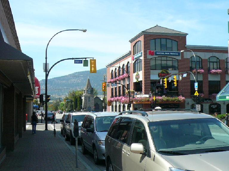 Penticton is a town in south-central British Columbia with a cute downtown.