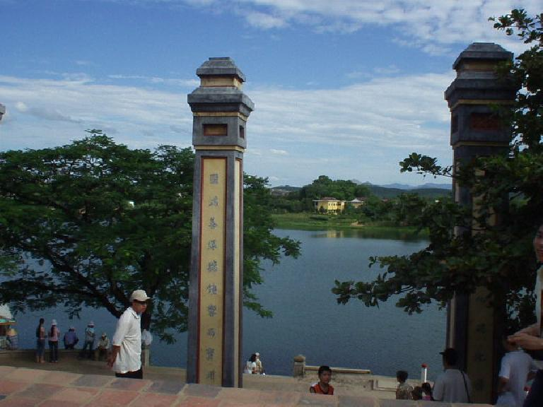 The Perfume River across from the Thien Mu Pagoda.