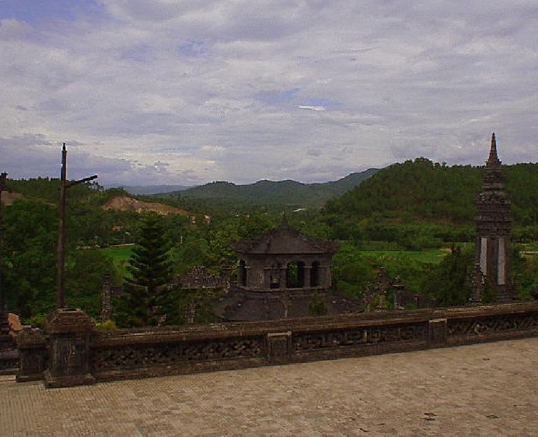 Palace near Hue in a setting kind of like Estes Park, CO.