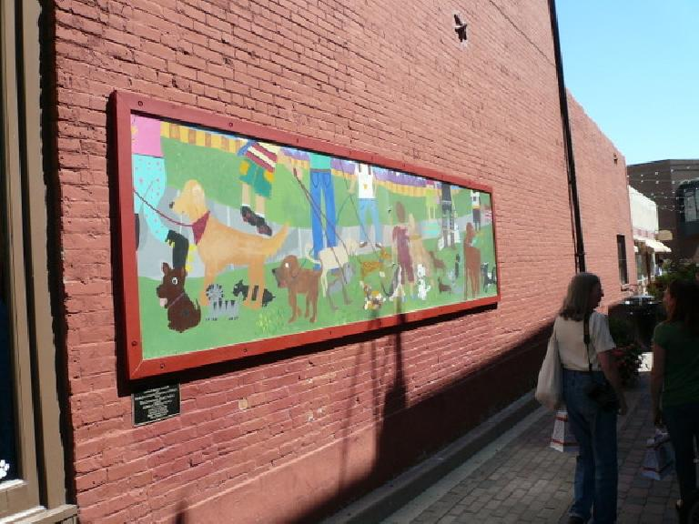 Doggie mural in Old Town Fort Collins.