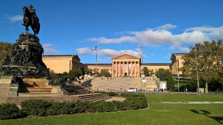 The Oval with the Philadelphia Museum of Art behind.