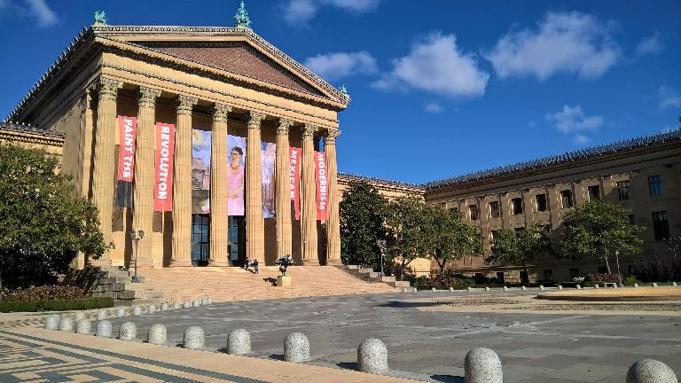 The courtyard at the Philadelphia Museum of Art.