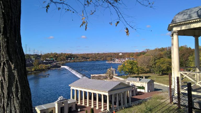 The Fairmount Water Works on the Schuylkill River, as sen from Fairmount Park. It used to be the source of Philadelphia's water supply.