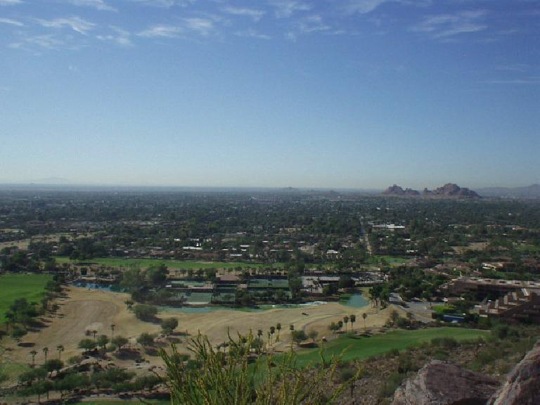 Scottsdale down below -- where residents are predominantly older and very wealthy -- had numerous golf courses and expensive homes.