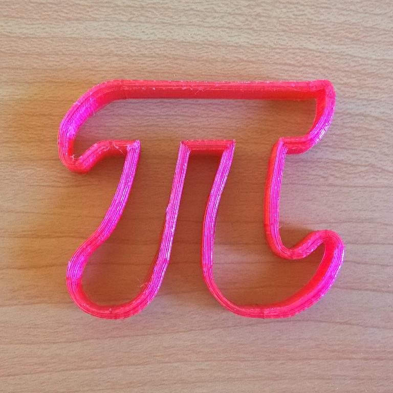 red pi cookie cutter, 3D printed