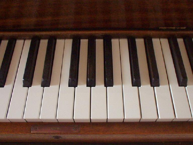 """An """"after"""" photo of the new keytops."""